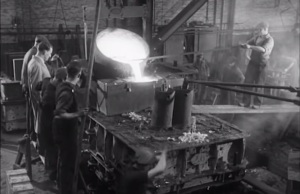 Pouring Steel