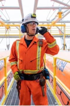 PPE offshore worker