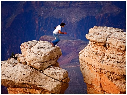 Grand Canyon Leap — camera does not lie